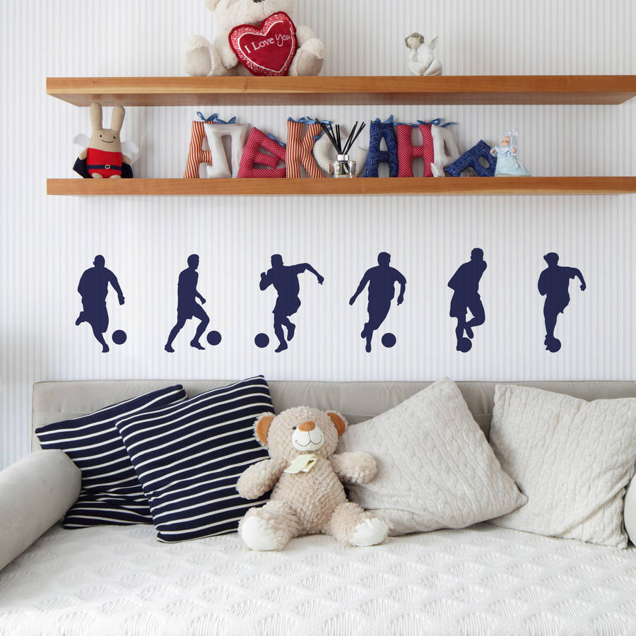Set of 6 Footballer Wall Stickers