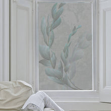 Silvery Leaves Frosted Window Film