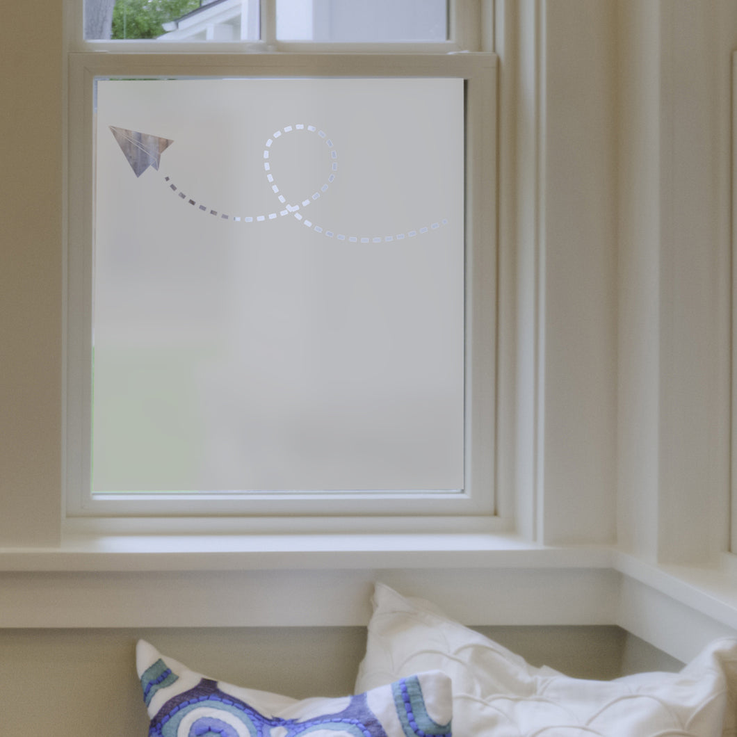 Paper Planes Frosted Window Film