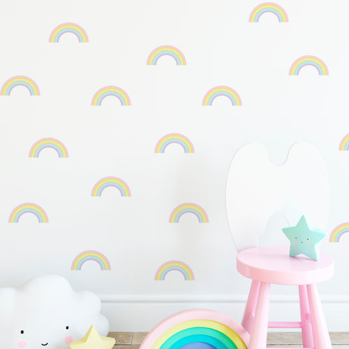 Pastel Rainbow Wall Stickers