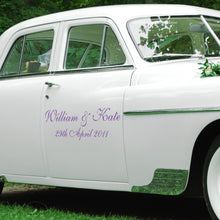 Personalised Wedding Vehicle Sticker Decals