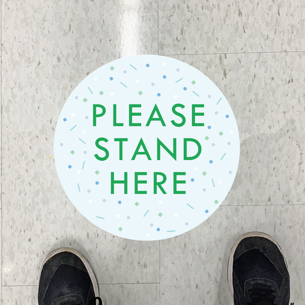Scatter Stand Here Floor Graphics