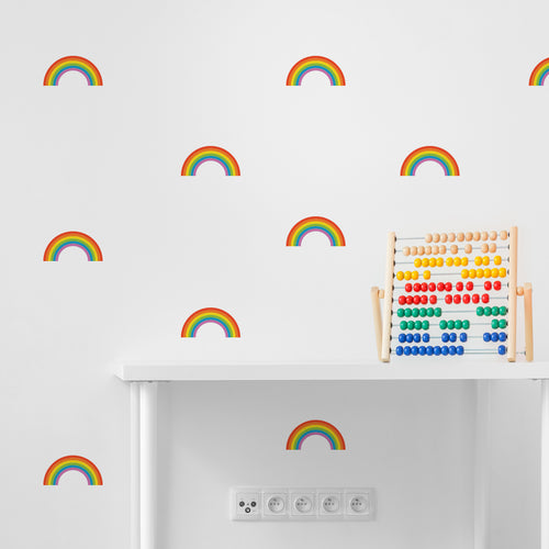 Bright Rainbow Wall Stickers
