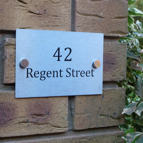 Personalised Stainless Steel House Sign
