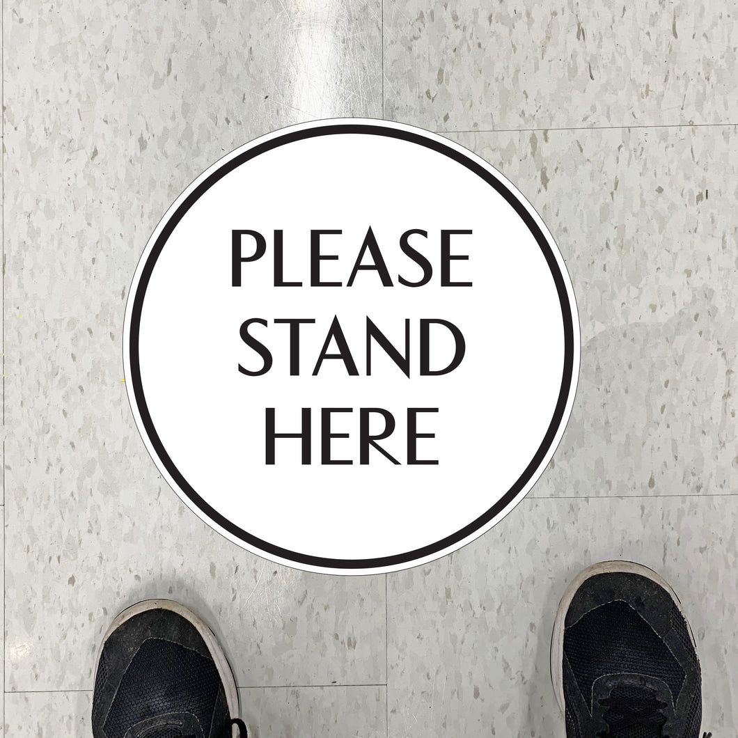 Simple Stand Here Floor Graphics
