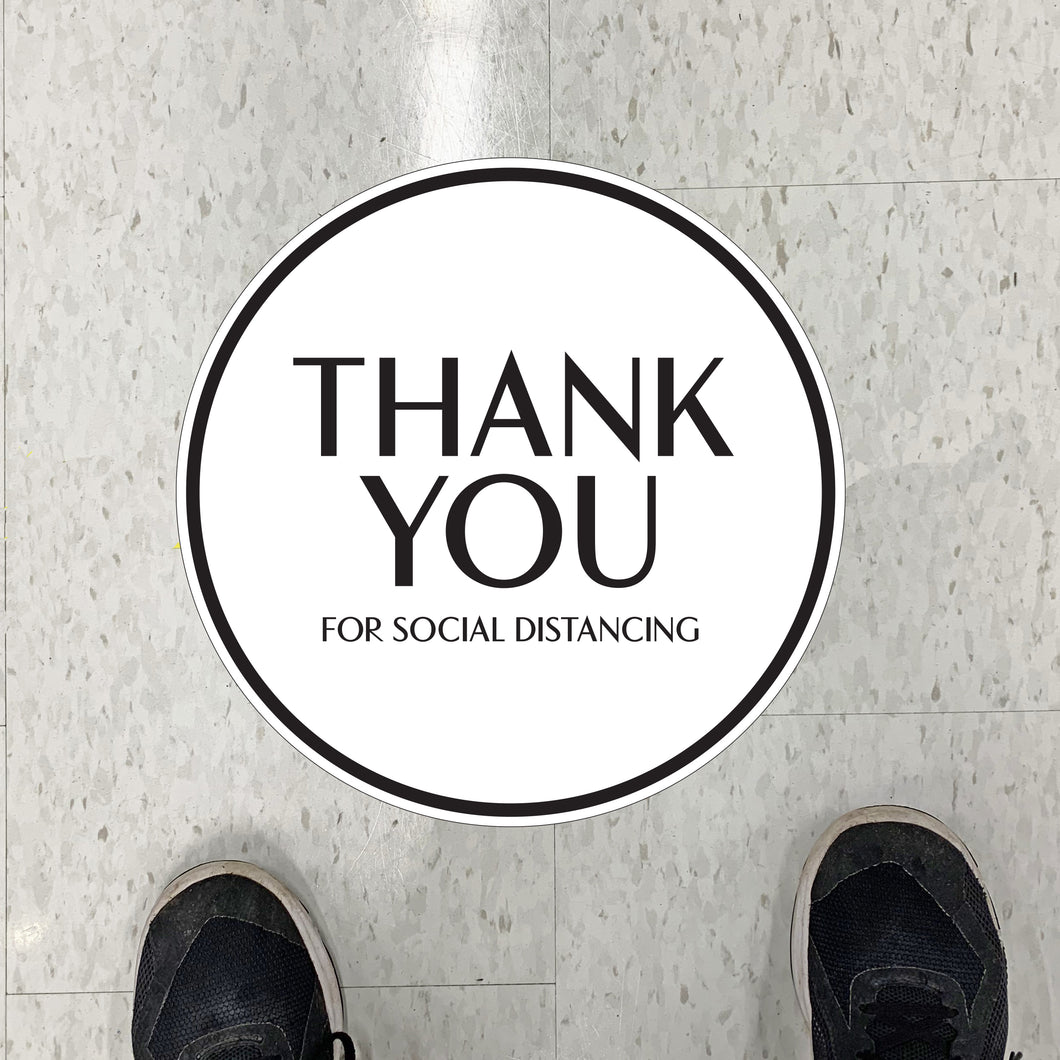 Simple Thank You Floor Graphics