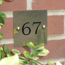 Personalised Brass House Sign