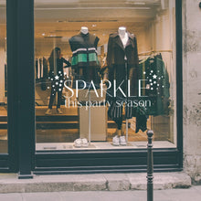 Sparkle This Party Season Retail Window Vinyl