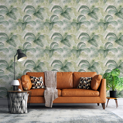 Tropical Leaves Self-Adhesive Wallpaper