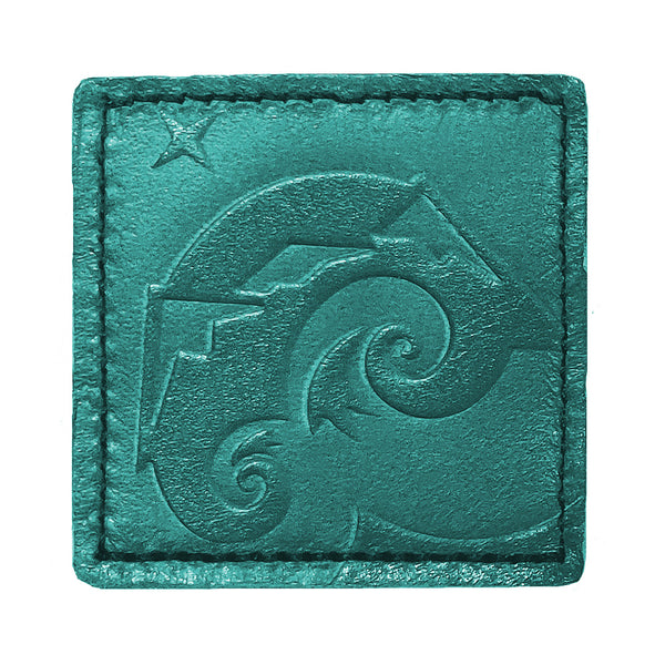 Perpetual Explorer 2x2 Turquoise Leather Patch