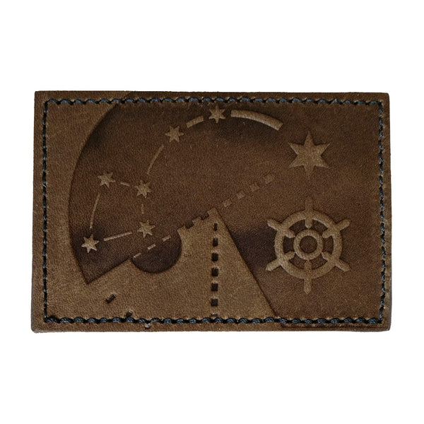 Polaris 2x3 Brown Leather Patch