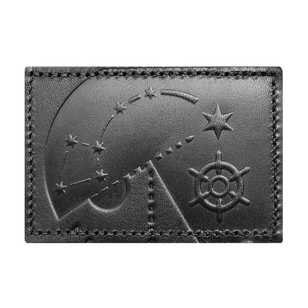 Polaris 2x3 Blackout Leather Patch