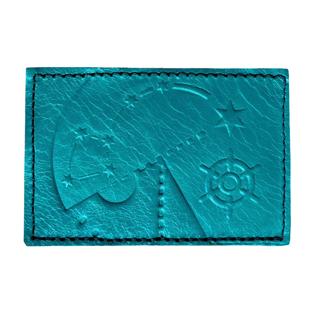 Polaris 2x3 Turquoise Leather Patch