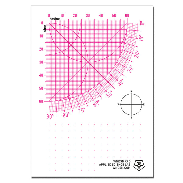 Wndsn Sine Quadrant (SqTM) A6 Worksheet Pad Dot Grid