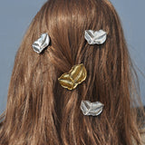 Leaf Hair Accessories - 1 Gold and 1 Silver - Handmade