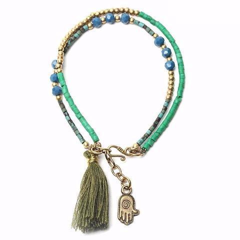 Beaded Tassel Summer Bracelet With Various Pendants
