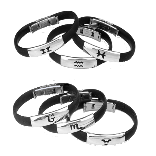 Zodiac Stainless Steel Holographic Bracelet