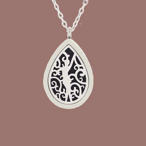 Oil Diffuser Stainless Steel Necklace