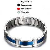 Stainless Steel Blue Magnetic Bracelet