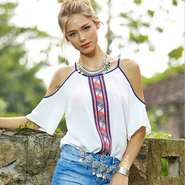 Feminine Off the Shoulder Top