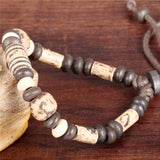 NEW - Ethnic Handmade Ceramic Beads & Rope Bracelet - Unisex