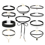 Chokers and Necklaces - 10 Piece Set