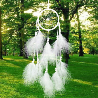 Handmade Dream Catcher Wind Chime With Feathers