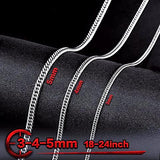 Titanium Steel Flat Chain Necklace