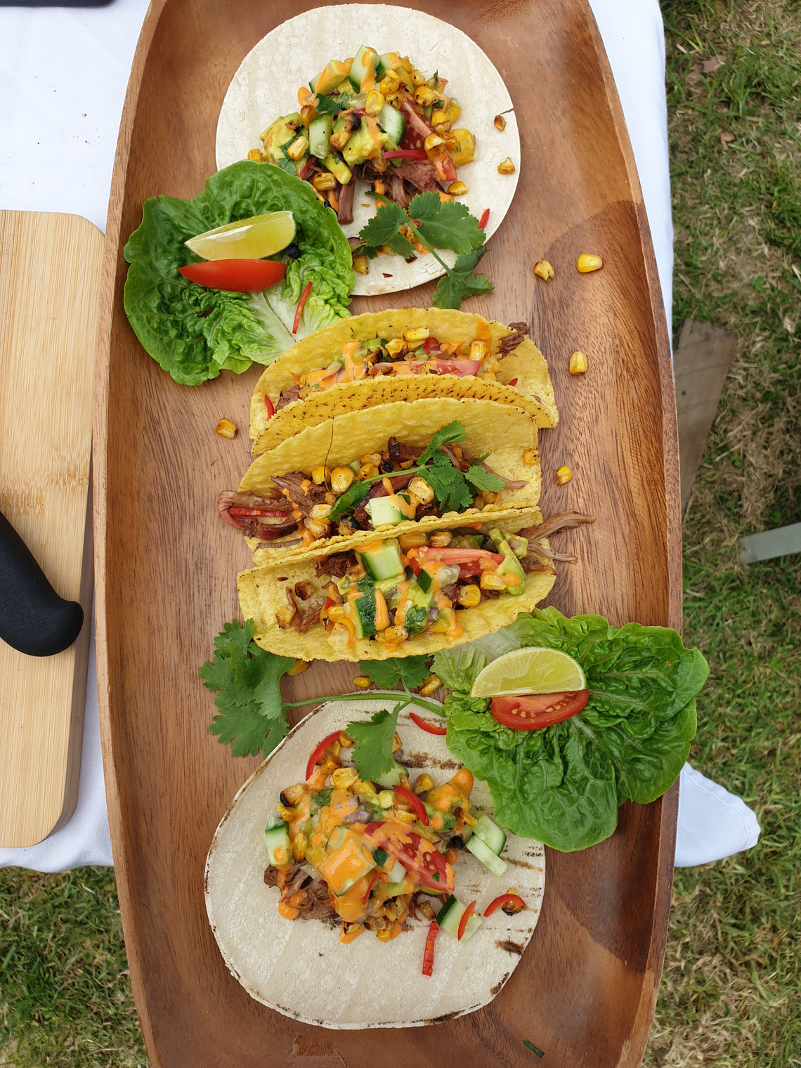 Pulled Lamb Tacos with Avo & Mango Salsa