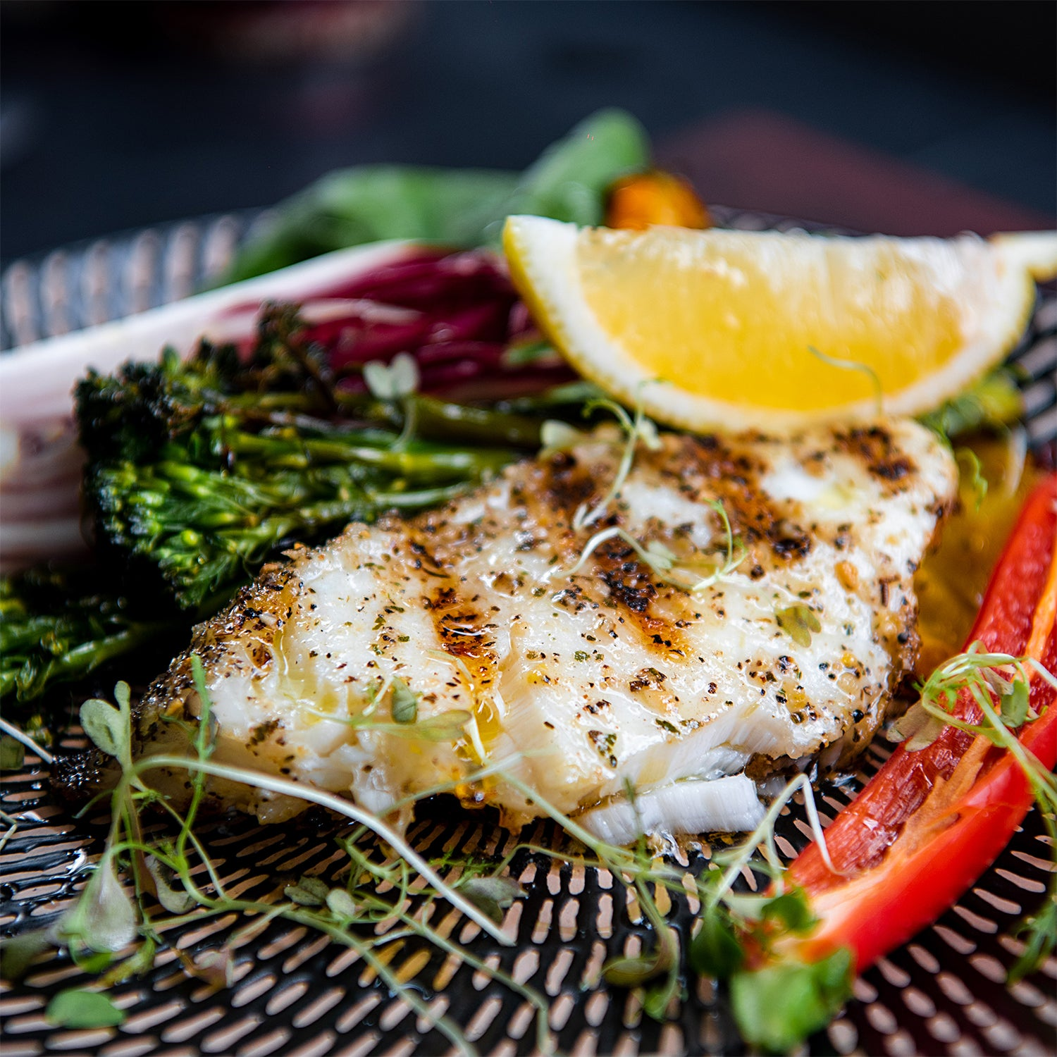 Grilled Glacier 51 Toothfish with Zesty Salt Rub