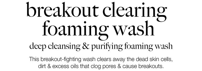 breakout  clearing foaming wash-image-grid