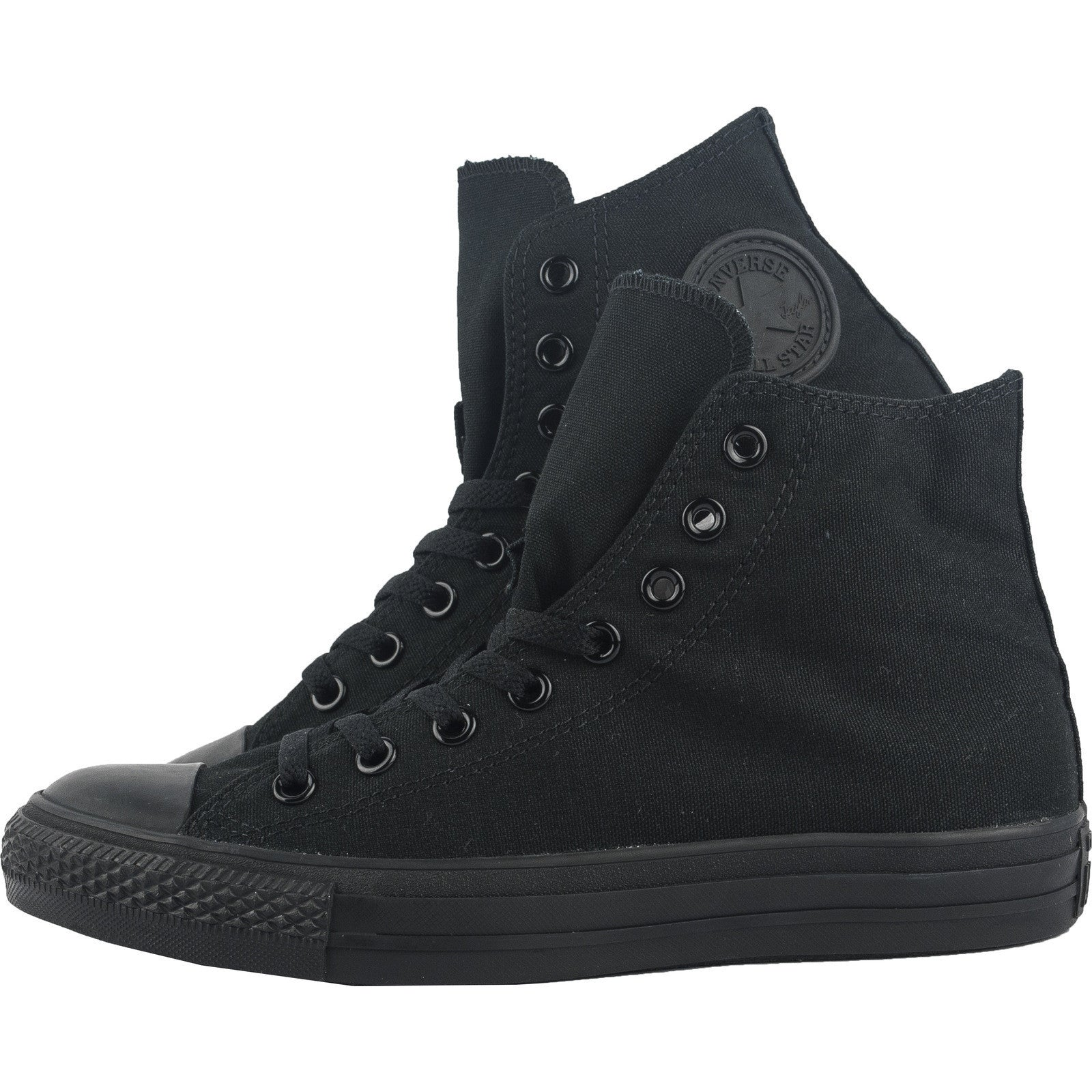 5b5b91f8ea47 Converse Classic Chuck Taylor All Star All Black Monochrome HI High M3310C  Trainer Sneaker NEW ...