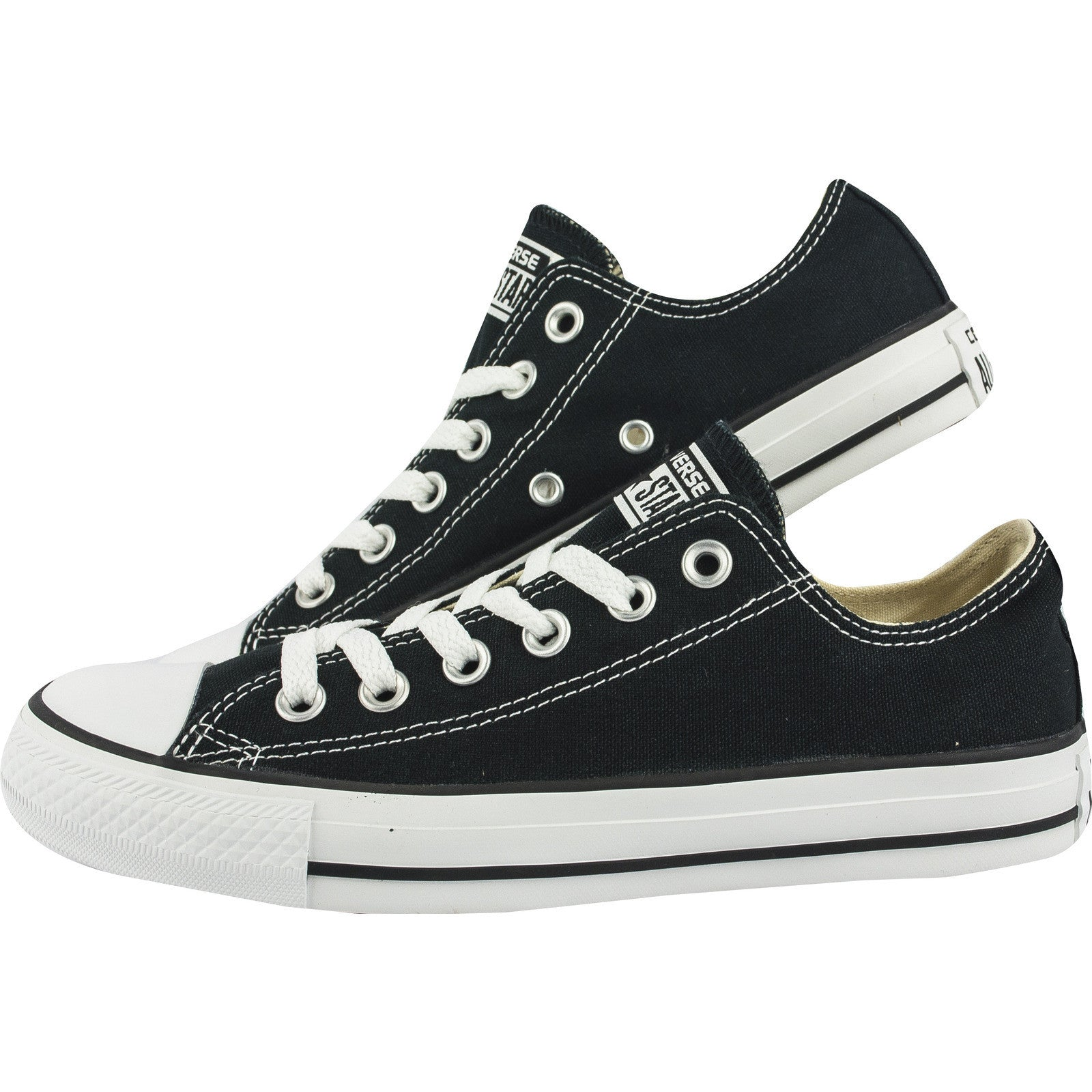 ... Converse Classic Chuck Taylor All Star Black Low Tops M9166C Sneaker  Men Women ...