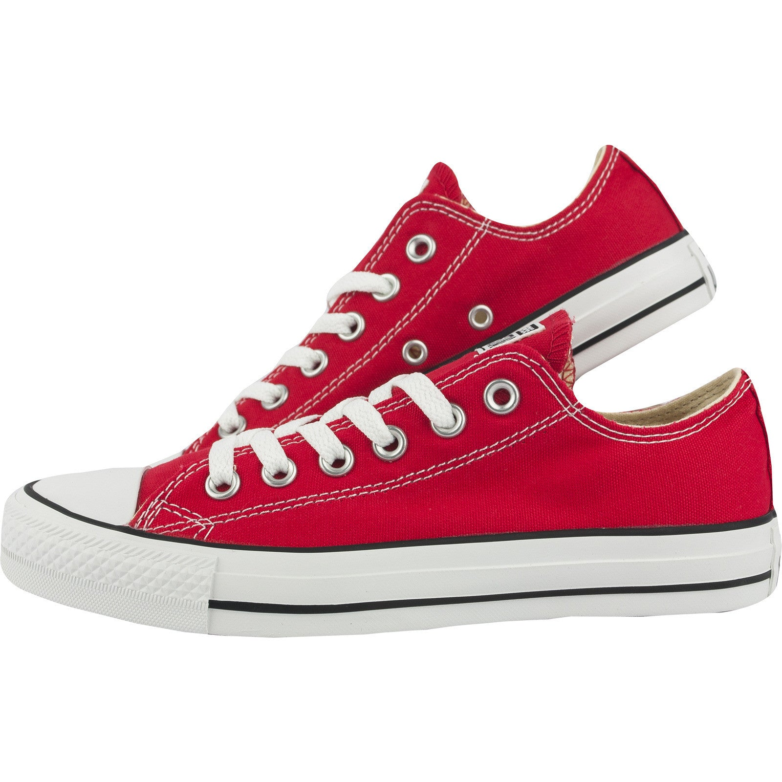 d3f3f71a943318 Converse Classic Chuck Taylor Red Low Tops Trainer Sneaker All Star OX NEW sizes  Shoes ...