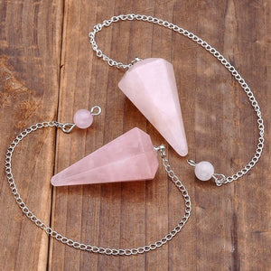 Chakra dowsing pendulum eternal vibrations chakra dowsing pendulum crystal rose quartz eternal vibrations aloadofball