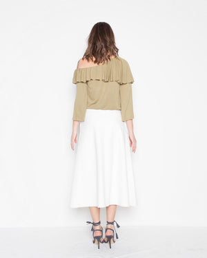 SAIA MIDI BRONX OFF WHITE
