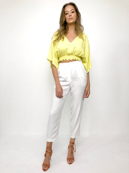 BLUSA CONEY ISLAND LIME