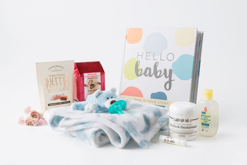 """Hello Baby!"" Newborn Gift Set - Boy"