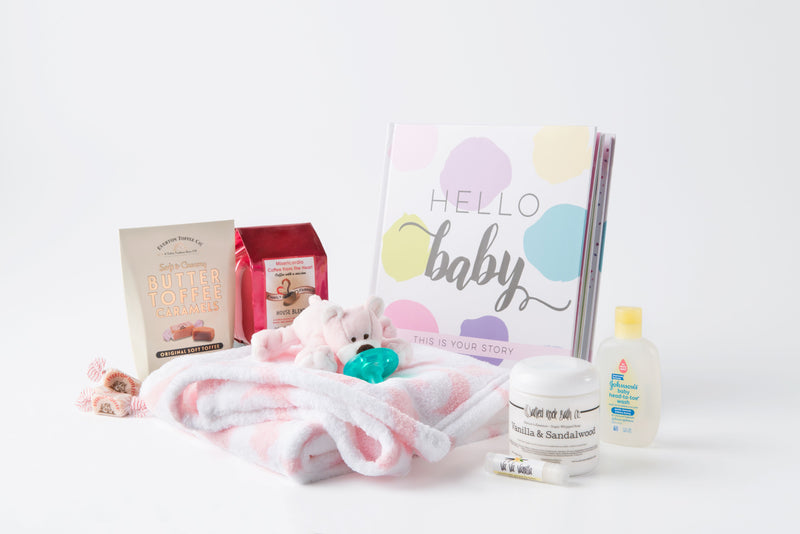 """Hello Baby!"" Newborn Gift Set - Girl"