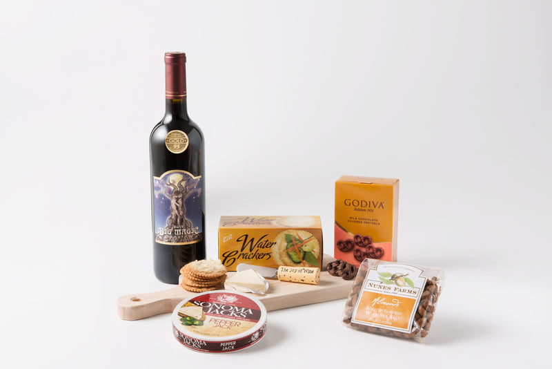 "Premium ""Big Magic"" 95 Point Wine, Cheese, & Snack Set"