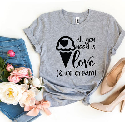 All You Need Is Love And Ice Cream Tee - Purple Cow Apparel