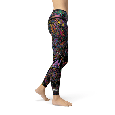 Artisan Hand Drawn Leggings - Purple Cow Apparel