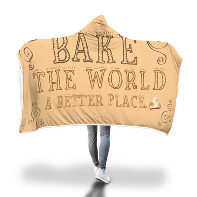 Bake the world Hooded Blanket - Purple Cow Apparel