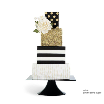 Black Tie Affair MODERN SQUARE Cake Stand - Purple Cow Apparel