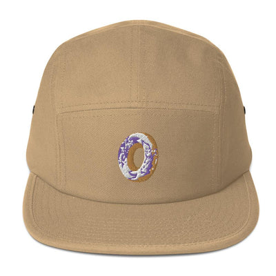 Five Panel Camper Embroidered Cap - Purple Cow Apparel
