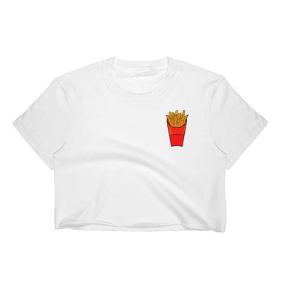 Fries [women's crop top] - Purple Cow Apparel