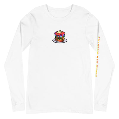 Rainbow Pancakes Long Sleeve Tee - Purple Cow Apparel