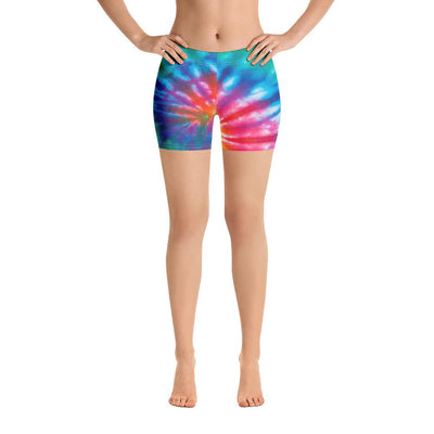 Tie Dye 'Peace Collection' Shorts - Purple Cow Apparel