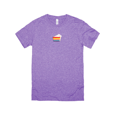 Tri Blend Caked Tee - Purple Cow Apparel