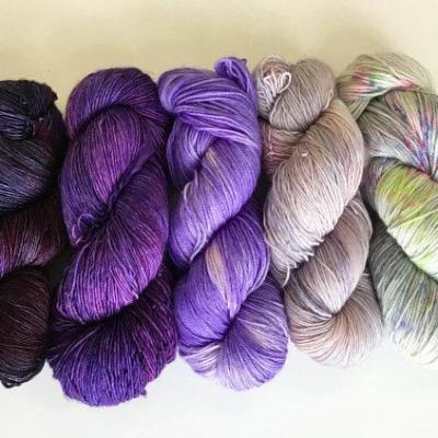 5 skein set: Purple Prism